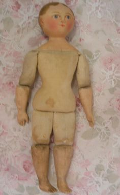 RARE Antique Maggie Bessie Doll Cloth Doll Moravian Original Clothing | eBay