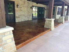 Edmond Ok Concrete Staining Sealing Concrete Finishes, Concrete Floors, Concrete Staining, Hardwood Floors, Flooring, Stamped Concrete, Decorative Concrete, Concrete Contractor, Walnut Stain