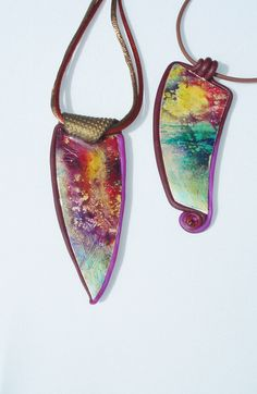 watercolor pendants | by beadunsupervised