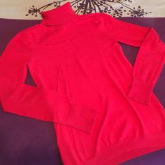 Red Turtleneck Sweater Light turtleneck sweater. Some signs of wear, but overall great condition. Red. Size xs from Gap GAP Sweaters Cowl & Turtlenecks