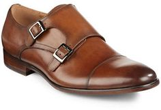 Pegabo Medien Leather Monk Strap Shoes