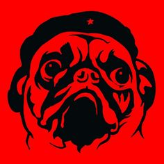 PUG GUEVARA T-SHIRT - MENS Funny Che Cute Dogs Vintage Retro Style Logo Tee #CrushedTees #GraphicTee