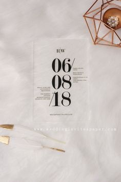 Most popular wedding invites design simple Acrylic Wedding Invitations, Spring Wedding Invitations, Minimalist Wedding Invitations, Diy Invitations, Wedding Invitation Templates, Invites, Minimalist Invitation, Rustic Wedding Alter, Edgy Wedding