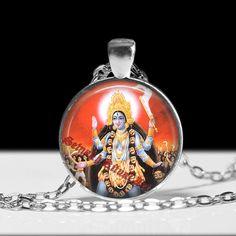 Kali pendant hindu jewelry Kali necklace magic jewelry