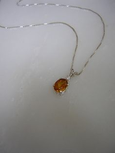 Medeira Citrine With Brilliant Cut Diamond by RLGemstoneElegance, $120.00