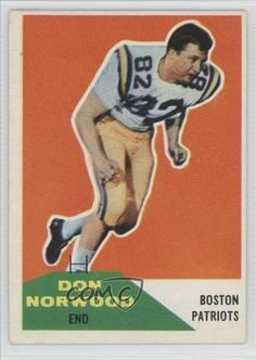 Don Norwood RC (Rookie Card) Boston Patriots (Football Card) 1960 Fleer #97 by Fleer. $2.20. 1960 Fleer #97 - Don Norwood RC (Rookie Card)