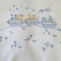 Baby Embroidery, Applique Embroidery Designs, Cross Stitch Embroidery, Cross Stitch Patterns, Baby Sheets, Baby Bedding Sets, Boarders And Frames, Toddler Dress Patterns, Cute Stitch