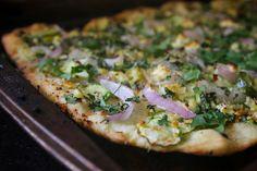 corn zucchini lime pizza by shutterbean, via Flickr