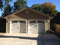 Garage Doors – Types, Considerations, And Ideas – The Homeward View Pole Barn Garage, Garage Shed, Garage Plans, Detached Garage, Car Garage, Garage Ideas, Carport Ideas, Shed Design, Garage Design