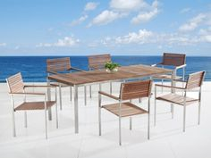 Beliani VIAREGGIO Garden Dining Teak Top Steel Table and ... http://www.amazon.com/dp/B00TV0JOB6/ref=cm_sw_r_pi_dp_Z4gtxb1VFV3BR