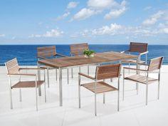 Beliani VIAREGGIO Garden Dining Teak Top Steel Table and ... http://www.amazon.com/dp/B00TV0JOB6/ref=cm_sw_r_pi_dp_Z4gtxb1VFV3BR