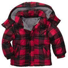 Buffalo Plaid Jacket | Baby Boy Jackets & Outerwear #babyboyjackets