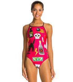 splish halloween things thin strap one piece swimsuit - Halloween Swimsuit
