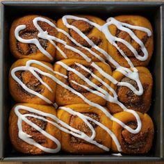 Pumpkin Sweet Swirl Buns