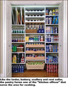 The Pantry. *Look at all the clever pull out shelves for wine and cans, you name it.