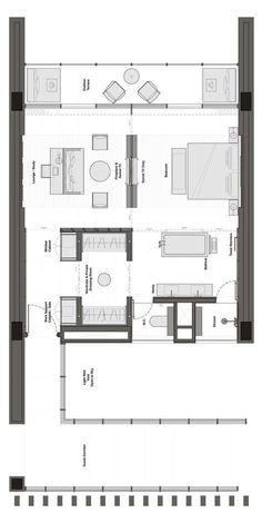 The Lalu Quindao Master Bedroom Plans, Floor Plan 4 Bedroom, Master Room, The Plan, How To Plan, Apartment Layout, Apartment Plans, Plano Hotel, Tyni House