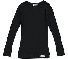 Plain Tee LS Modal - Caviar - T-shirts  - Baby