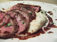 Kirsten's Recipes: Spicy Grilled Steak with Creamy Garlic Mashed Potatoes