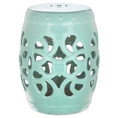 Sofia Indoor/Outdoor Garden Stool Ceramic Indoor/outdoor Garden Stool.  Product: Stool Construction Material: Ceramic Color: Blue Features: Handu2026 |  Pinteresu2026