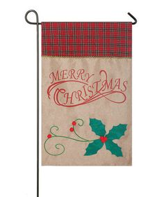 Love this Burlap 'Merry Christmas' Flag on #zulily! #zulilyfinds