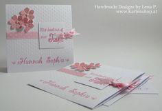 Einladungskarten - Einladung zur Taufe Girl *Zarte Blüten* - ein Designerstück von www-Kartenshop-at bei DaWanda