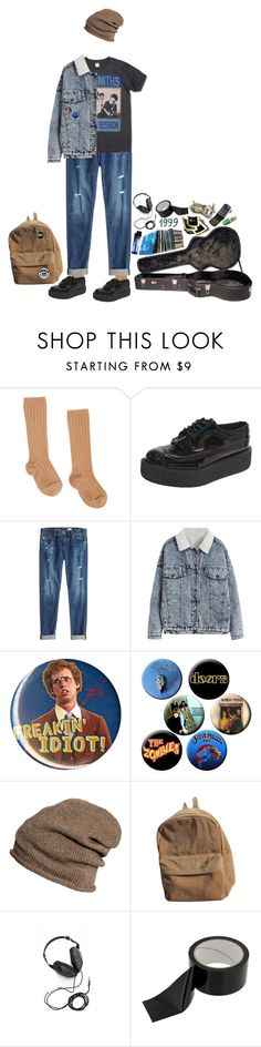 """""""ugh this sucks"""" by bay-of-the-bad-wolf ❤ liked on Polyvore featuring Kiltie, AG Adriano Goldschmied, H&M and Molami"""
