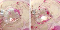 Make // Marbleized Glass Hearts  via bliss bloom blog