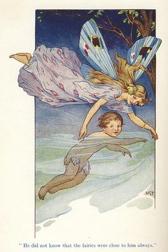 ≍ Nature's Fairy Nymphs ≍ magical elves, sprites, pixies and winged woodland faeries - Harry G. Theaker, The Fairies Were Always Close To Him Believe, Vintage Fairies, Baby Fairy, Beautiful Fairies, Flower Fairies, Fairy Art, Children's Book Illustration, Fantasy Art, Fantasy Fairies