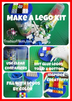 Make a Lego Kit using a Sunsweet Ones Container (or any clear container) #lego http://freebies4mom.com/2012/07/11/legokit/