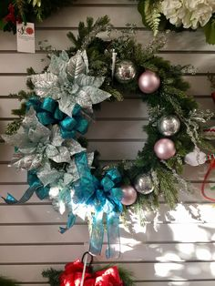 Christmas wreath design by Andi at Silk Florals. 2016