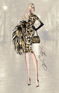 PFW: 'On The Prowl' by Hayden Williams. williams the prowl fashion week illustration sketch art Hayden Williams, Fashion Illustration Sketches, Illustration Mode, Fashion Design Sketches, Art Illustrations, Love Fashion, Fashion Art, Girl Fashion, Paper Fashion