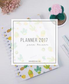 Não sabe como se organizar em 2017? Baixe o nosso planner 2017 com várias páginas super funcionais e super completo para você ser mais organizado em 2017!
