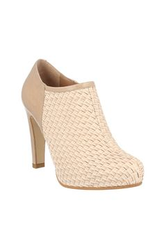 c3b1f8bab Roberto Botella - Combined Leather Booties in Textured Beige