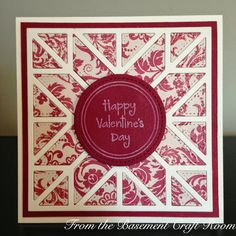 From the Basement Craft Room: Quilted Valentine (quilt square cover-up by my favorite things)