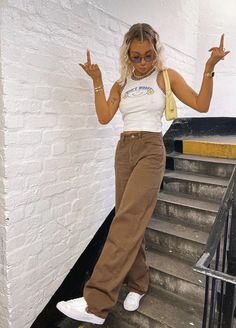 Trendy Summer Outfits, Cute Casual Outfits, Spring Outfits, School Looks, Indie Outfits, Teen Fashion Outfits, Mode Streetwear, Streetwear Fashion, Facon