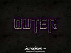 GraphicRiders | Sci-fi style – Outer (free photoshop layer style, text effect) #graphicriders