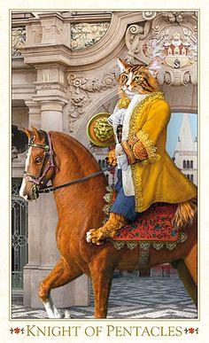 Bohemian Cats Tarot Knight of Pentacles