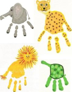 8 Easy Winter Craft Projects For Kids: Handprint art Kids Crafts, Craft Projects For Kids, Baby Crafts, Toddler Crafts, Preschool Crafts, Craft Ideas, Art Projects, Summer Fun For Kids, Art For Kids