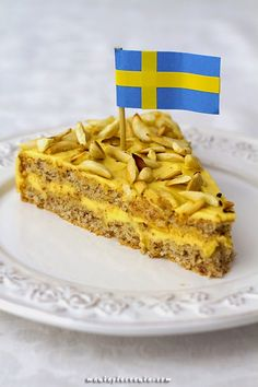 maniapieczenia: Tårta Mandel - szwedzki torcik migdałowy