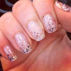Glittery pink sparkles. Barry M.