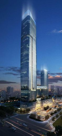 Nanjing World Trade Center Tower, Nanjing, China by Gensler Architects :: 69 floors, height 328m