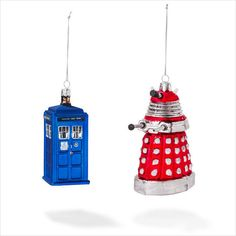 Doctor who TARDIS AND DALEK GLASS CHRISTMAS TREE ORNAMENTS on eBid United Kingdom