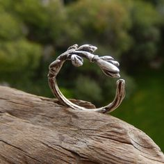 Sterling Silver Nature Inspired Ring (€46) ❤ liked on Polyvore featuring jewelry, rings, sterling silver jewellery, sterling silver rings and sterling silver jewelry