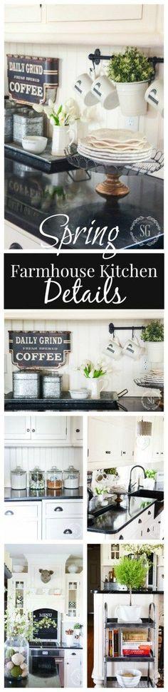 SPRING FARMHOUSE KITCHEN DETAILS