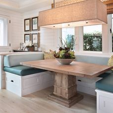 Extendable stone wash kitchen table