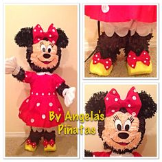 Minnie Mouse Piñata Custom Made by angelaspinatas on Etsy, www.facebook.com/angelaspinatas
