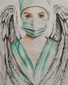 Drawing Sketches, Art Drawings, Nurse Drawing, Medical Wallpaper, Nurse Art, Medical Art, Portrait Art, Cool Art, Graffiti