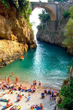 Amalfi Coast, Italy If you have an urge to travel to Italy for your honeymoon, make sure to pass through the Amalfi Coast. It's actually so beautiful that some honeymooners make it their one and only destination. You'll find pristine Italian beaches (like this secluded beach in Furore) and some of the best pasta dishes you've ever had. Santa Caterina is rumored to be one of the best hotels for a romantic getaway.