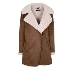 Dorothy Perkins Suede & Sheepskin Coat €77.00