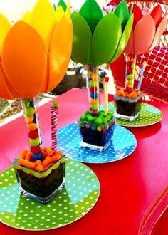 15 Ideas para Elaborar Centros de Mesa para Fiestas Infantiles